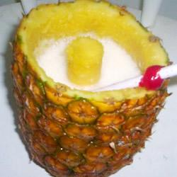 Banana Colada in a  Pinapple