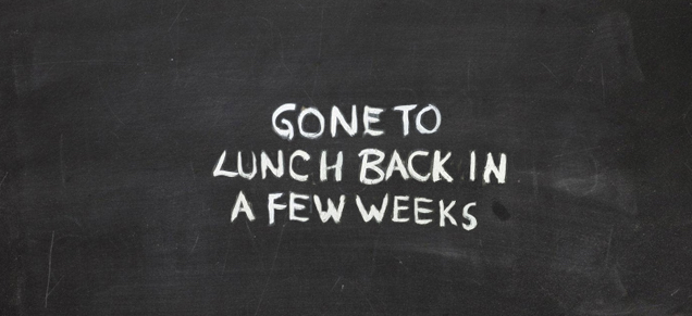 Gone to lunch image