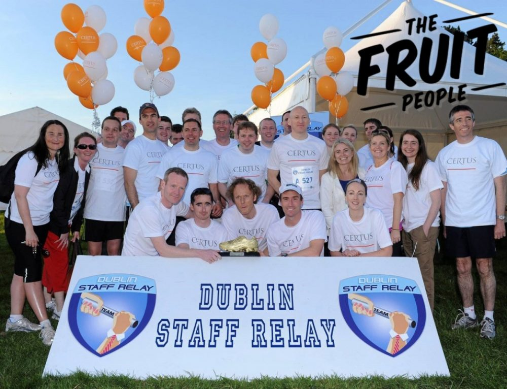 Dublin Staff Relay with PwC 2017: Fruit + Fitness + Fun!