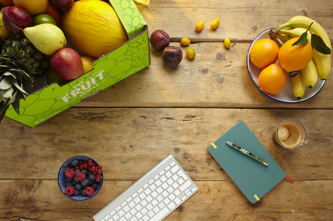 fruit delivery office desk
