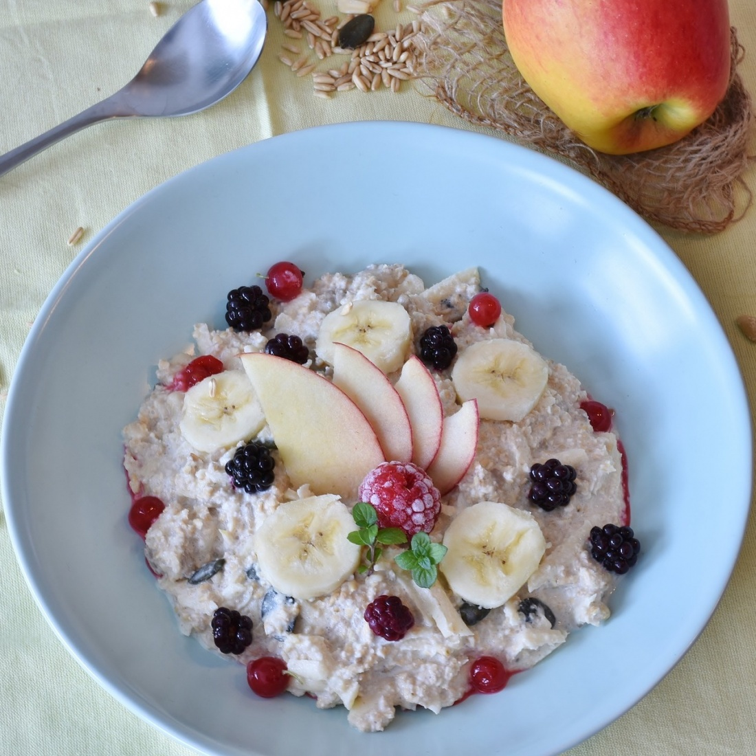 Fruit In Porridge