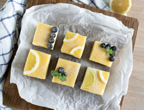 Recipe: Blueberry & Lemon Cheesecake Slices